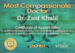 COMPASSIONATE DOCTOR RECOGNITION 2012