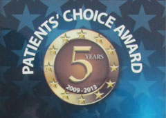 PATIENTS' CHOICE 5TH ANNIVERSARY AWARD